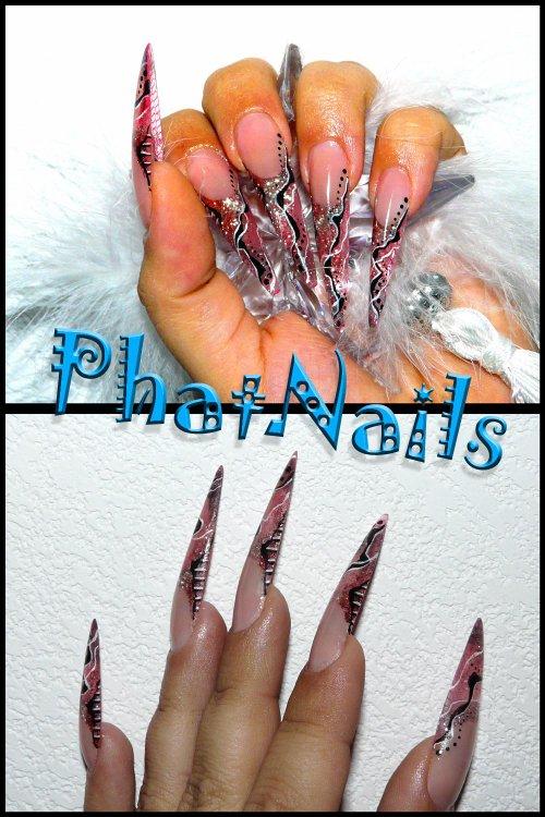 integrale stilettos lechat,resille rose et peinture acrylique ©