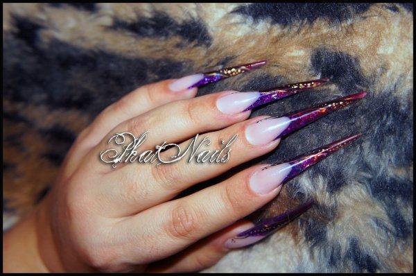 stilettos purpurina & vitral ©
