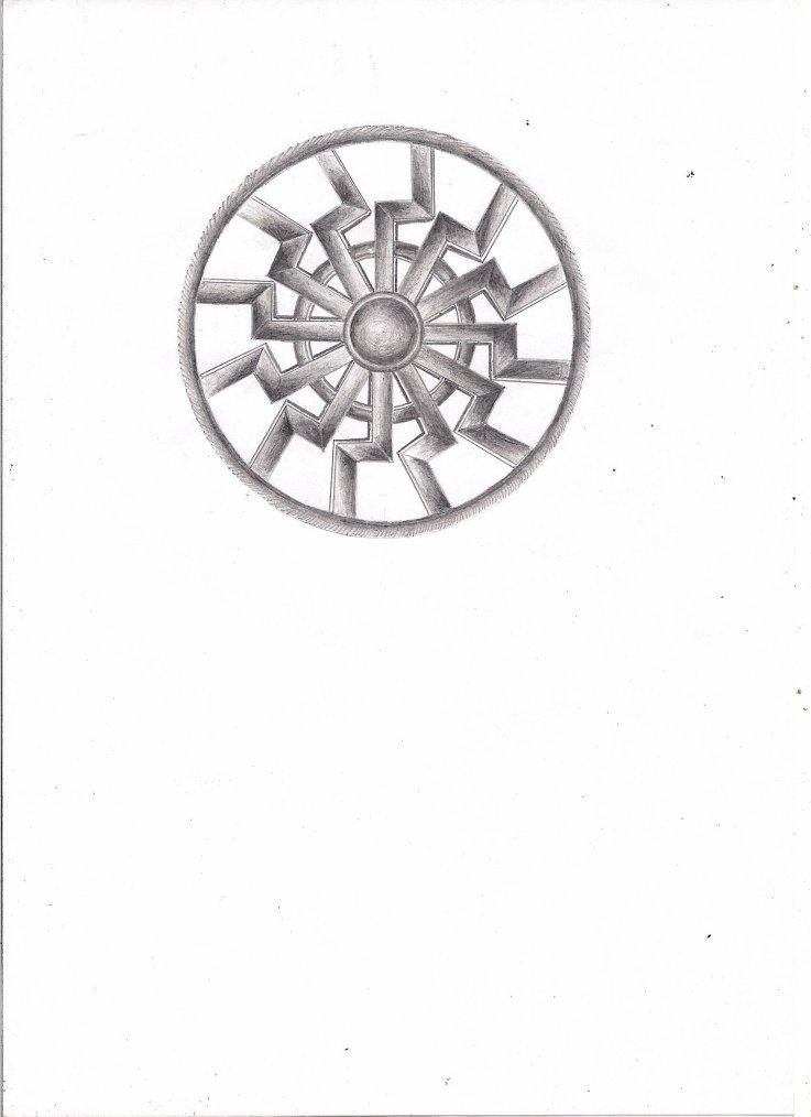 mon dessin ^^ soleil noir