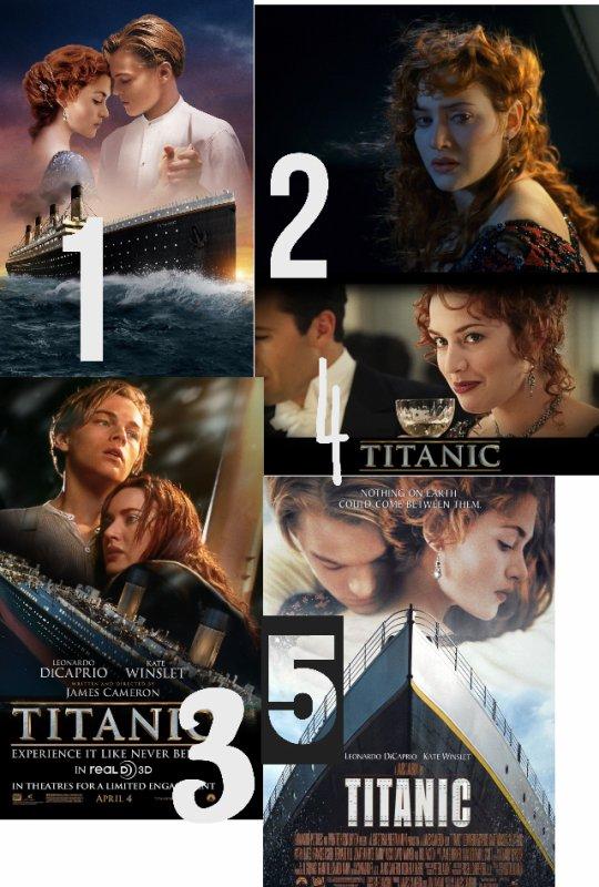 Quelle photo de Titanic préferes tu ?