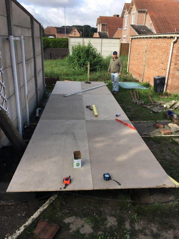 Quelque photos de la construction du pigeonnier