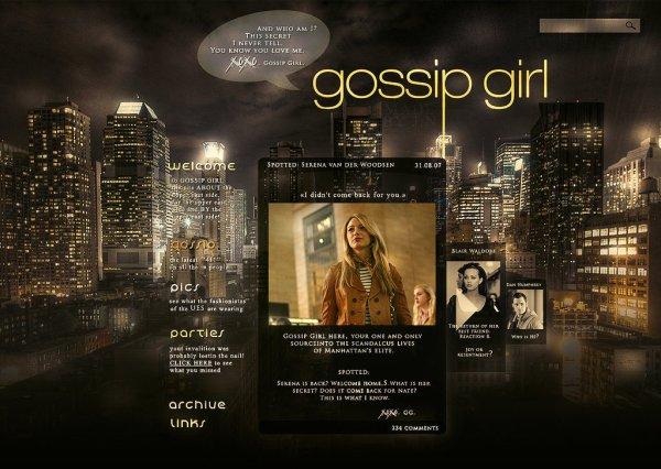 La Gossip se fait une joie d'annoncer ton arrivée dans son monde de privilégiés