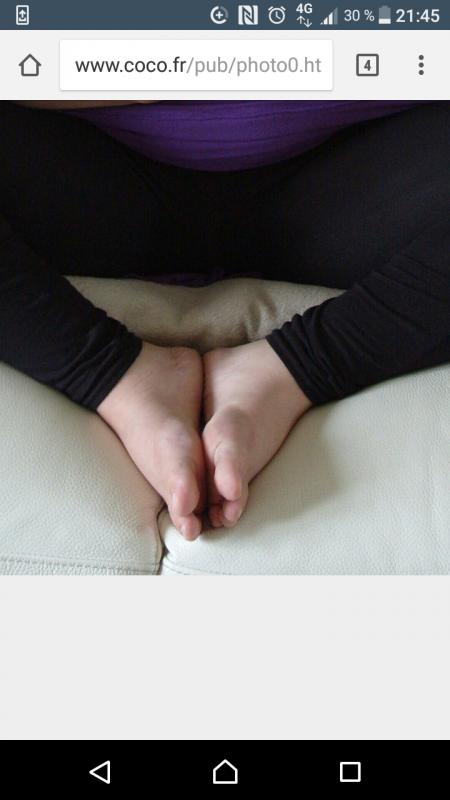 Les pieds de Stéphanie de coco
