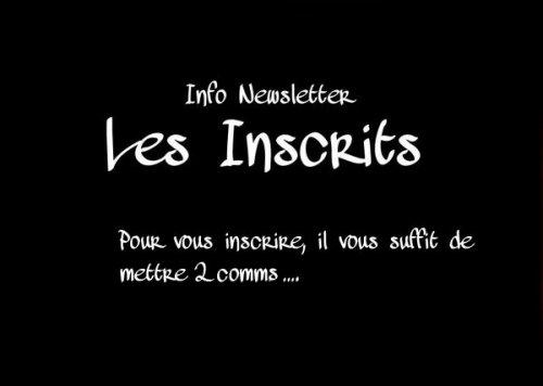 Info Newsletter Les Inscrits