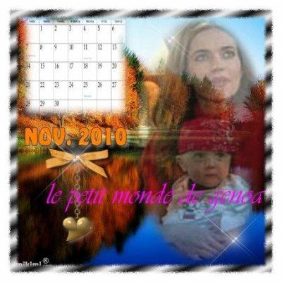Je vous souhaite un bon mois de NOVEMBRE!!!!