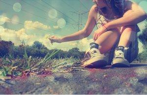 Parfois on fais des choses qui nous aide a nous échapper de la réalité ...♥