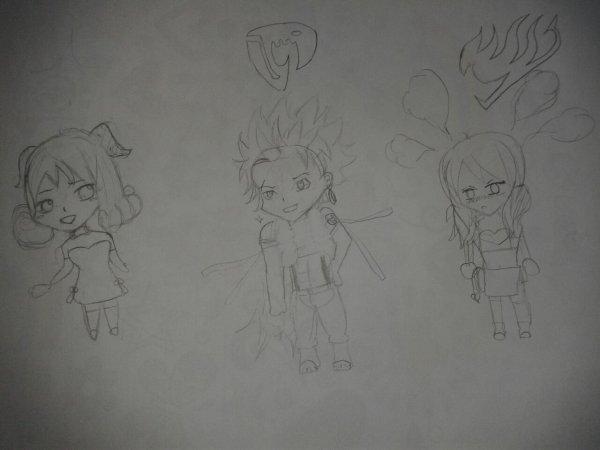 Dessin chibis Fairy Tail