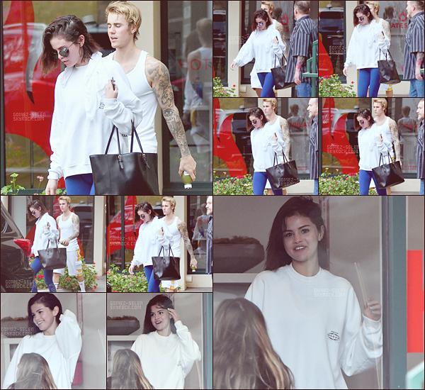 . 03.01.2018 ○Le couple Selena/Justin ont été aperçu ce Mercredi quittant Hot Pilate dans WH. .