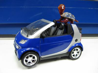 Bimy en voiture