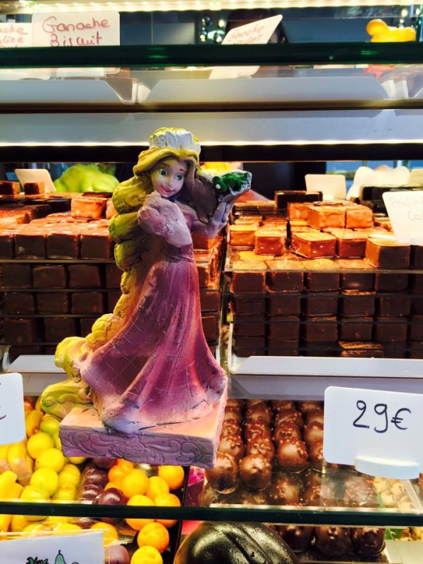 raiponce en chocolat