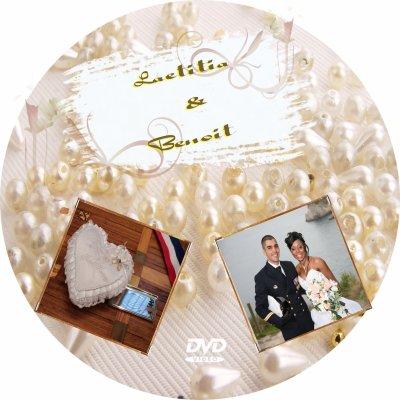 Boitier dvd et rondelle dvd pour mariage