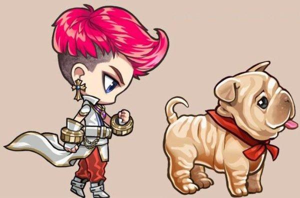 G-Dragon (BIGBANG) devient le personnage d'un jeu pour téléphone portable