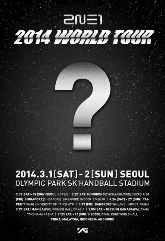 Les 2NE1 commencent à dévoiler les dates de leur tournée mondiale