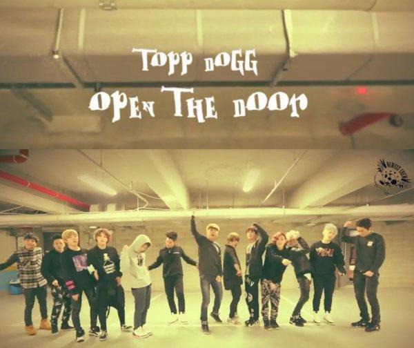 """Topp Dogg dévoile une vidéo de son entraînement sur """"Open The Door"""""""