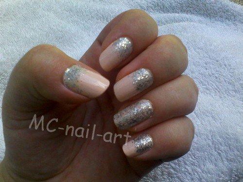 Pink & Silver - Nail Art