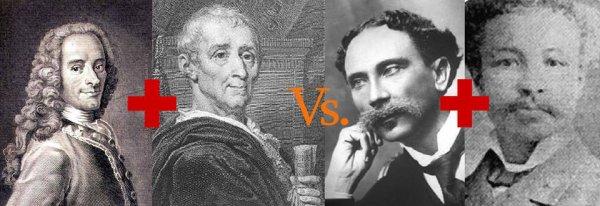 Voltaire, Montesquieu , Etzer Vilaire , Demesvar Delorme