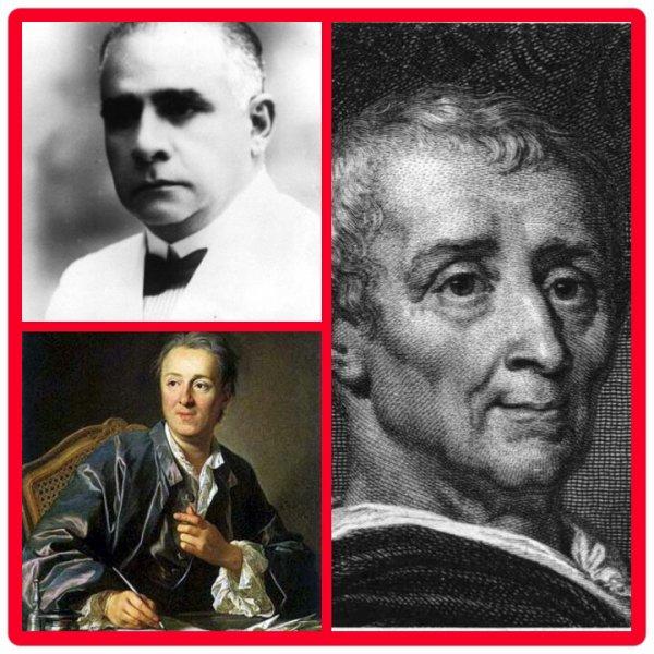 Fernand Hibbert , Diderot , Montesquieu