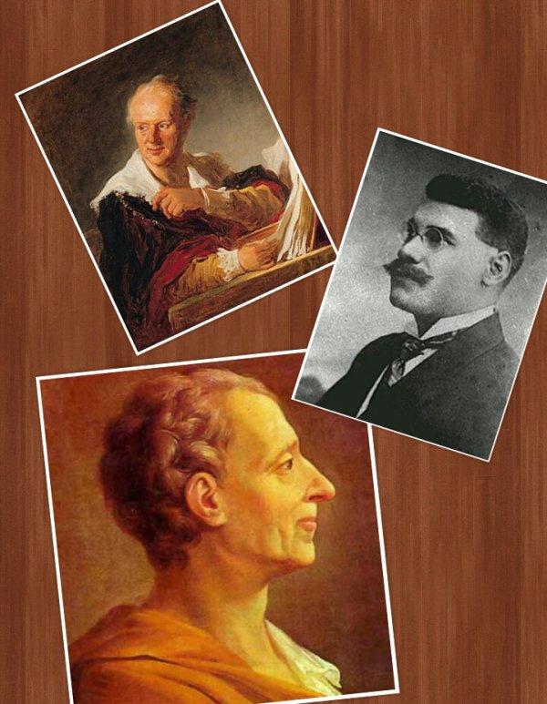 Diderot, Dantes Bellegarde, Montesquieu