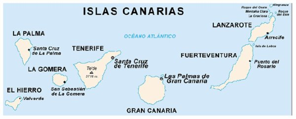 Les îles Canaries : TENERIFE ou TENERIFFE
