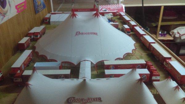 Du jeudi 27 au lundi 1er mai, retrouvez la maquette au grand complet sous le chapiteau d'accueil du cirque d'hiver BOUGLIONE à Nantes, parc expos de la beaujoire