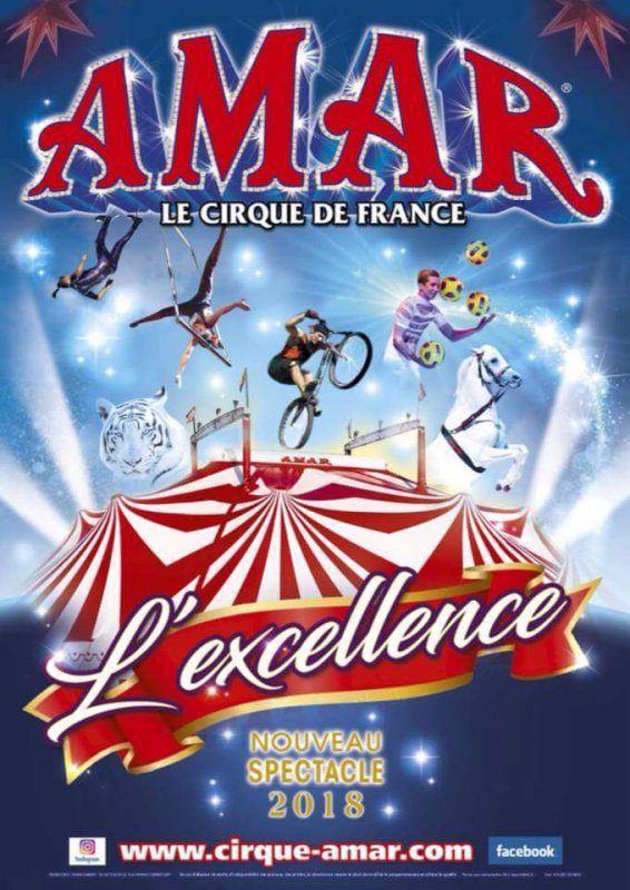 Nouveau visuel du cirque AMAR 2018