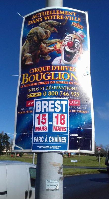 """BOUGLIONE s'affiche à BREST """"dernière ville de la tournée 2017/2018. Reprise en septembre avec un nouveau spectacle signé BOUGLIONE. Photo greg ledez"""