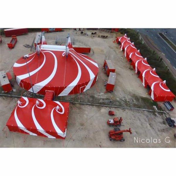 Dernierrement à Vendôme, le cirque nicolas zavatta pris de drone par Nicolas.G