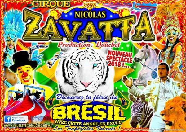 J'aime bien le visuel du nouveau spectacle du cirque Nicolas ZAVATTA qui annonce la couleurs.....