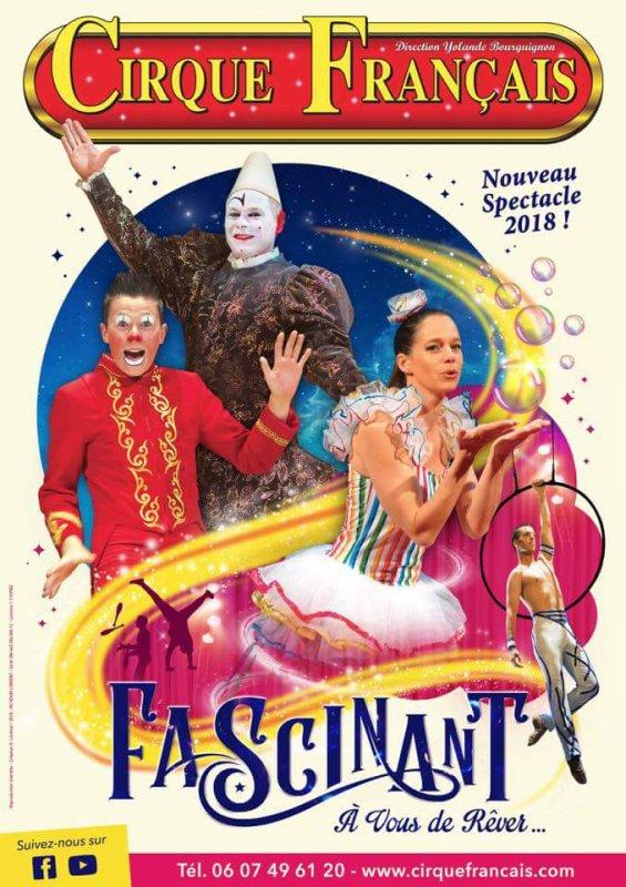 """Magnifique visuel du nouveau spectacle du cirque FRANCAIS """"FASCINANT"""" en tournée en bretagne dès juillet"""
