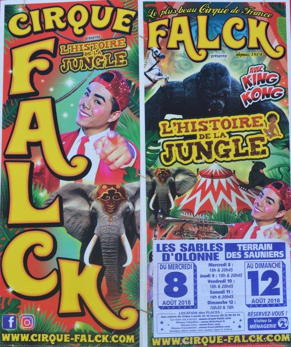 Le cirque FALCK Les Sables d'Olonne 2018 arrivée!!!!