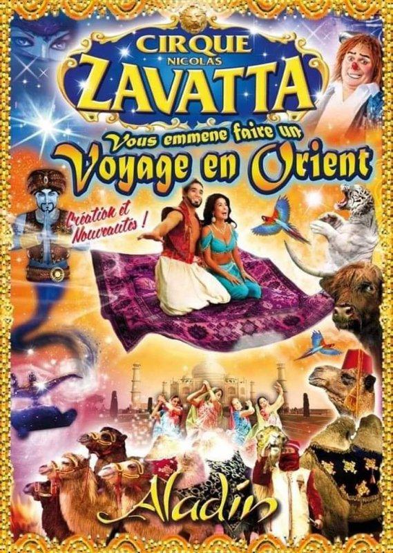 Comme vous avez pu le remarquée le cirque Nicolas zavatta de la famille DOUCHET nous présente un voyage dans les 1000 et une nuits avec Aladin.  Fauves, exotiques, nouveau clown, trapèze et bien d'autres créations signés DOUCHET