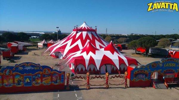 Le nouveau cirque Zavatta Falck tarbes 2019. Photos cirque ZAVATTA  falck