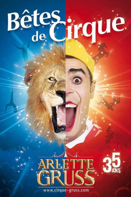 Affiche du 35 ème spectacle du cirque Arlette GRUSS qui débutera au mois de septembre à Aix les Bains