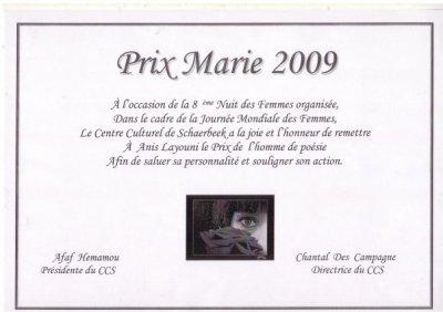 Prix Marie 2009