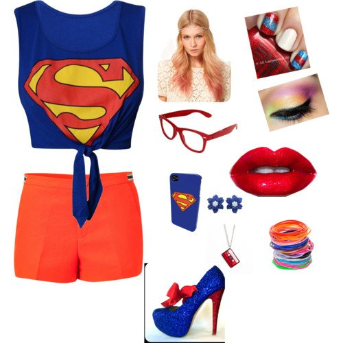 Tenue Superman de Yasmine