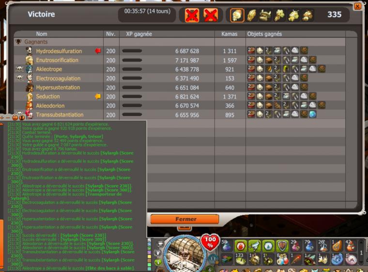 Sylargh score 300 à 8