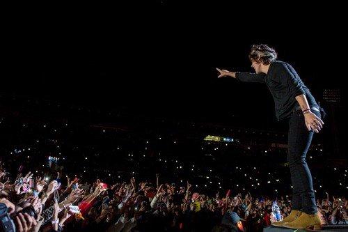 Harry pendant le premier concert du WWAT -  Suite