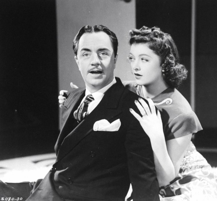 "William POWELL et Myrna LOY en 1941 dans le film ""Love crazy"" de Jack CONWAY."