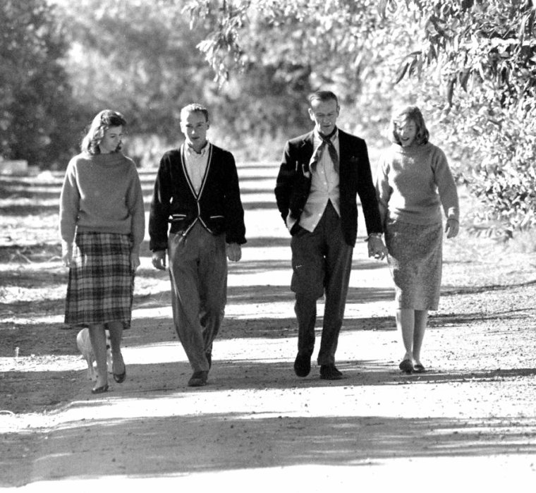 Fred ASTAIRE en famille sous l'objectif de Ralph CRANE en 1958.