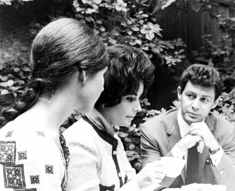 Eddie FISHER et Elizabeth TAYLOR en 1961 photographiés par James WHITMORE.