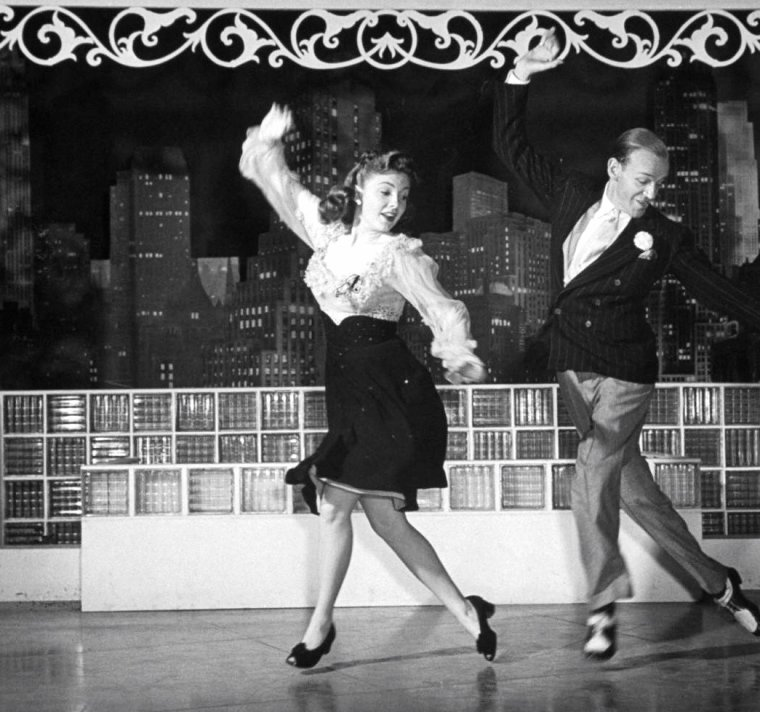 Joan LESLIE, Fred ASTAIRE, Hollywood, Octobre 1943 par John FLOREA.