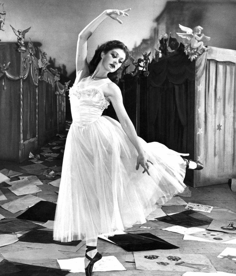 """Moira SHEARER en 1948 vue par Nat FARBMAN, lors du tournage des """"Chaussons rouges"""" de Michaël POWELL et Emeric PRESSBURGER."""