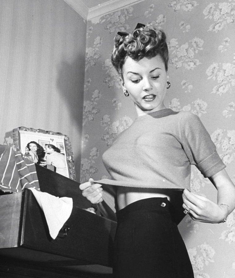 Hollywood Avril 1945, Janet BLAIR par Martha HOLMES.