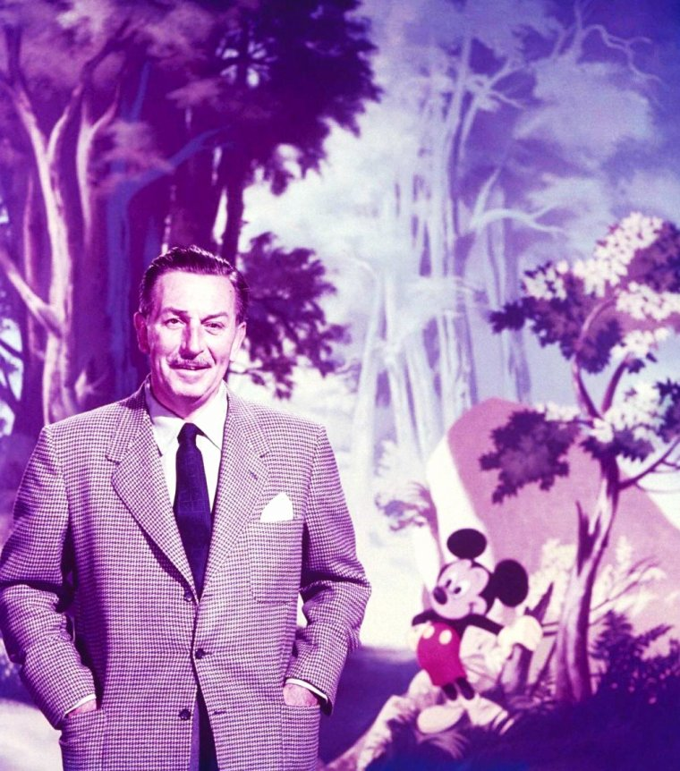 Walt DISNEY en 1950 par Alfred EISENSTAEDT.