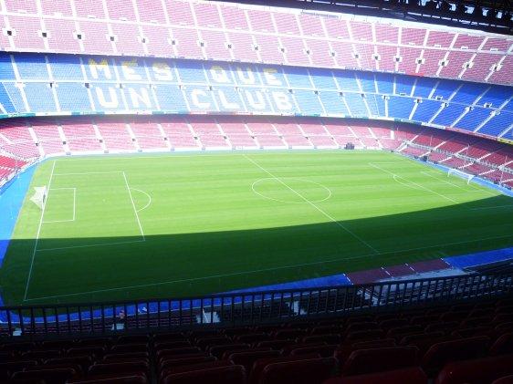 ●● visite du stade de barcelone