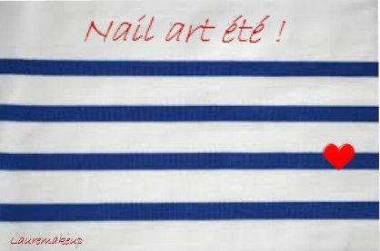 [Nail art n°1] Marinière pour l'été !