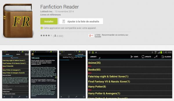 Fanfiction Reader : Une appli liseuse pour fanfiction.net !