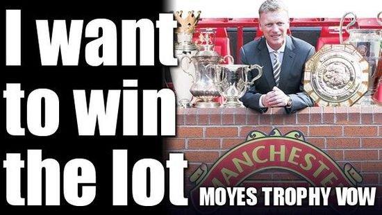 Moyes: Arbeide med Manchester United vant Grand Slam