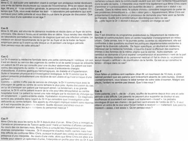 Déontologie & éthique professionnelle: résolution des cas théoriques de réflexion éthique développés au cours.