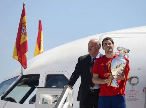 Euro: l'Espagne fait un triomphe aux joueurs de la Roja